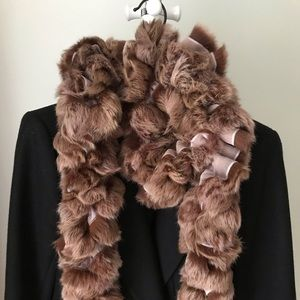 RECYCLED FUR SCARF